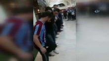 Trabzonsporlu taraftarlar, horon oynayarak Fenerium Mağazası'na girmek istedi