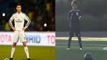 Ronaldo'nun oğlu frikikten attı