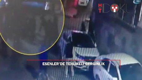 Esenler'de yaşlı kadının vurulma anı kamerada
