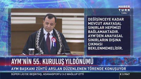 Zühtü Arslan AYM'nin kuruluşunun 55. yıldönümü töreninde konuştu