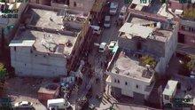 Adana'da bin polisle torbacı operasyonu helikopter kamerasında