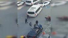 Sarıyer'de değnekçiler vatandaşa saldırdı