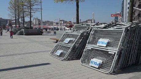 Taksim'de 1 Mayıs güvenlik önlemi hazırlıkları