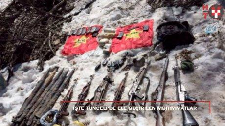 """TSK: """"Tunceli Ovacık'ta çok sayıda mühimmat ele geçirildi"""""""