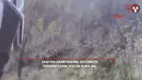 Tunceli'de PKK'lı teröristler böyle teslim oldu!