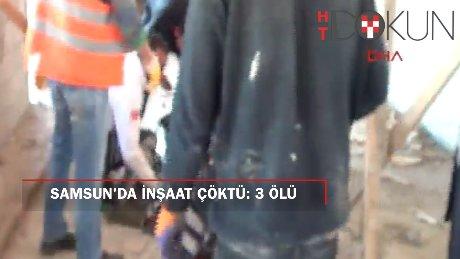 Samsun'da cami inşaatında kalıp çöktü: 3 ölü