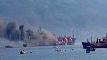 Kocaeli Körfezi'nde LPG yüklü tankerde yangın