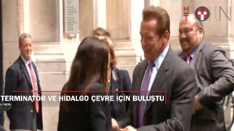 Schwarzenegger ve Hidalgo çevre için buluştu