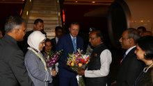 Cumhurbaşkanı Erdoğan Hindistan'a geldi