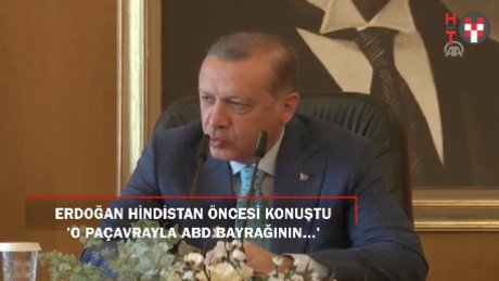 """Erdoğan: """"YPG terör örgütünün konvoyunda Amerikan bayrakları bizi üzmüştür"""""""