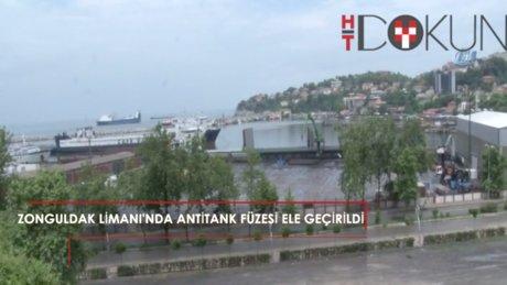 Zonguldak Limanı'nda antitank füzesi parçası ele geçirildi