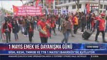 İstanbul'daki 1 Mayıs kutlamaları için alana yürüyüş başladı