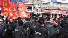 Taksim Meydanı'na yürümek isteyen gruba müdahale