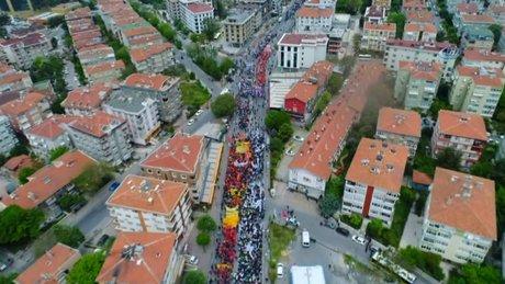1 Mayıs kutlamaları havadan böyle görüntülendi