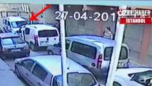 Sokakta çarpışan araba oynayan sürücü