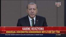 Erdoğan'dan 'kabine ve AK Parti'de değişiklik' açıklaması