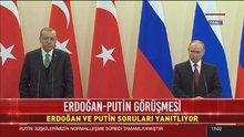 Erdoğan ile Putin'den ortak basın toplantısı
