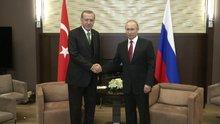 Cumhurbaşkanı Erdoğan Rusya'da Putin ile görüştü