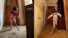Protezle değil babasının 150 liralık düzeneğiyle yürüdü