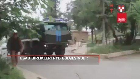 PYD bölgesinde Esad birlikleri görüntülendi
