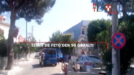 İzmir merkezli 5 ilde FETÖ operasyonu: 98 gözaltı