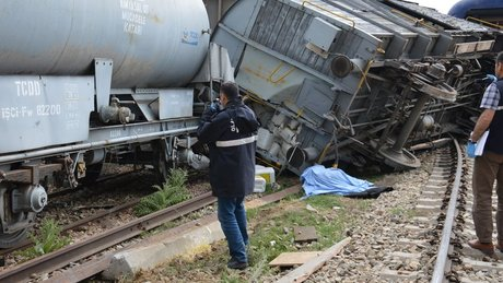 Kırıkkale'de tren vagonu devrildi: 1 ölü