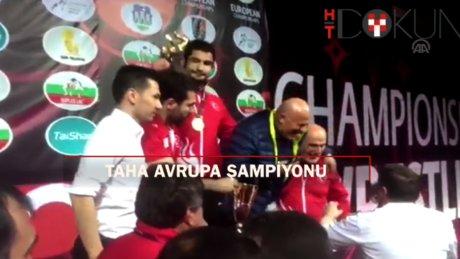 125 kiloda Taha Akgül Avrupa Şampiyonu