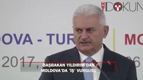 """Başbakan Yıldırım: """"Moldova'yla ilişkilerimizi stratejik seviyeye çıkaran anlaşmalar yaptık"""""""