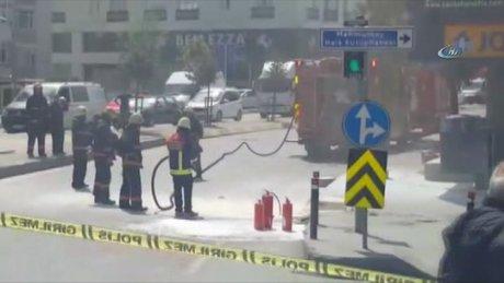 Bağcılar'da Yeraltı kabloları patladı, vatandaş paniğe kapıldı