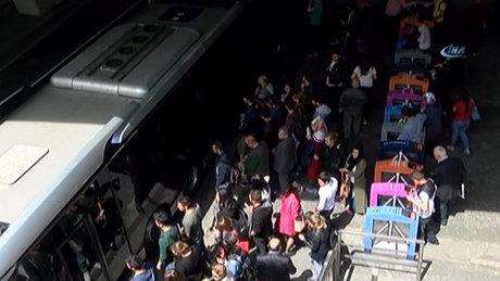 Metro merdiveninde dehşet