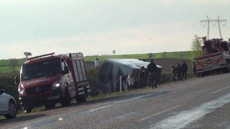 Çorum'da otobüs devrildi 1 ölü, 38 yaralı