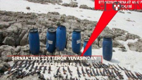 Şırnak'ta 127 terör yuvası kullanılamaz hale getirildi