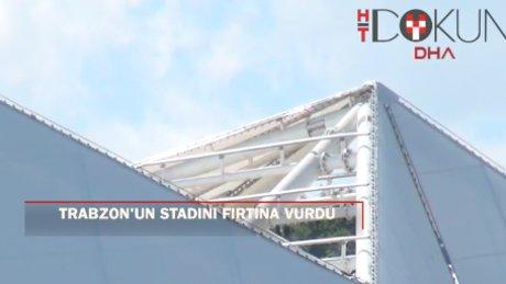 Trabzonspor Medical Park Arena Stadı'nın akıllı çatısı rüzgara dayanamadı