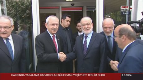 CHP lideri Kılıçdaroğlu Saadet Partisi Genel Başkanı'yla görüştü