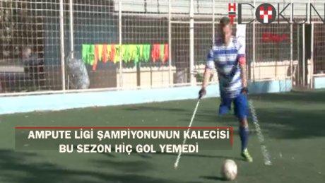 Ampute Futbol Ligi kalecisi sezon boyunca hiç gol yemedi