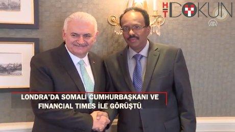 Başbakan Yıldırım Financial Times ve Somali Cumhurbaşkanı'yla buluştu