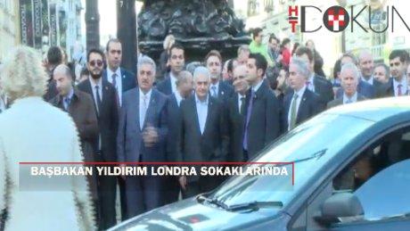 Başbakan Yıldırım Londra'da şehir turu attı