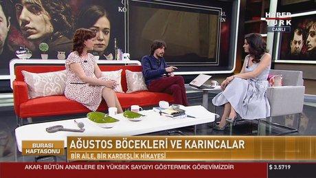 Ağustos Böcekleri Ve Karıncalar filminin oyuncuları Habertürk TV'de