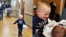 Down sendromlu çocuğun yeni doğan kardeşiyle buluşması