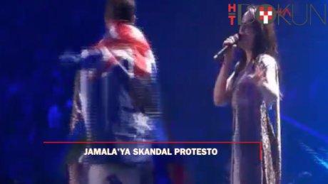 Eurovision'da skandal protesto: Jamala'nın karşısında...