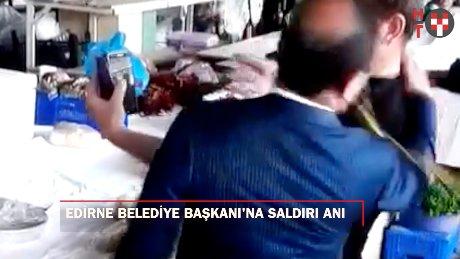 Edirne Belediye Başkanı Gürkan´a 'yumurtalı yumruklu' saldırı