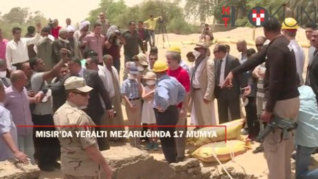 Mısır'da yeraltı mezarlığında 17 mumya bulundu