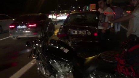 TEM'de Otoyolu'nda kaza