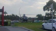 Acıkan pilot siparişini almaya helikopterle gitti!