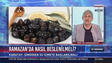 Prof. Dr. Canan Karatay'dan ramazanda beslenme önerileri