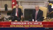 Cumhurbaşkanı Erdoğan ve Donald Trump Beyaz Saray'da