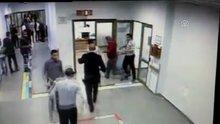 Arnavutköy Devlet Hastanesi'nde baltalı saldırı kamerada