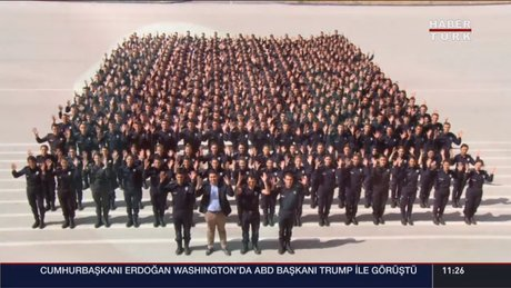 Polis Akademisi öğrencilerinden anlamlı klip