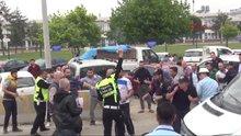 Bursa'da kaza sonrası kavga çıktı polis havaya ateş açtı