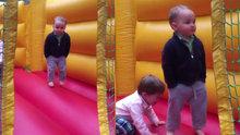 Oyun oynarken rahat tavırlı (cool) olan çocuk